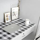 壁紙裝飾墻紙自粘防水桌貼簡約格子仿布桌面貼紙【聚可愛】