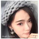 (都有現貨)毛帽。手工粗針織 麻花 捲邊 女漁夫帽 毛線帽子(9色)(SHA0004)AngelNaNa