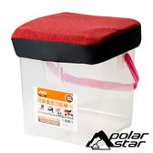 PolarStar 台灣 個人野餐坐墊 (P888 RV桶專用坐墊套)『暗紅』P17441 RV桶.置物桶.收納桶.收納箱