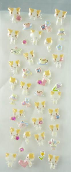 【震撼精品百貨】Mashumaro 棉花糖貓~貼紙『萊茵石』
