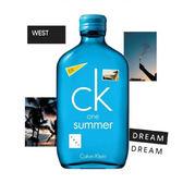Calvin Klein one Summer 中性淡香水2018 夏日限量版 100ml  *10點半美妝館*
