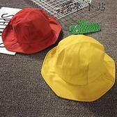 兒童漁夫帽女童遮陽帽防曬盆帽