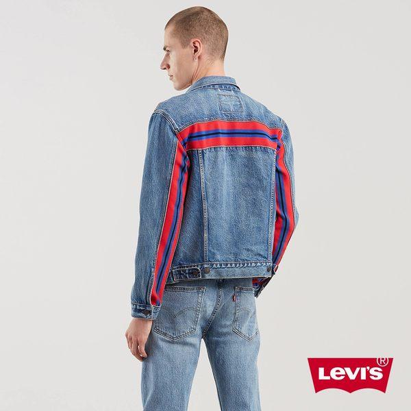 Levis 男款 牛仔外套 背後撞色線條