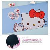 〔小禮堂〕Hello Kitty 長方形防水矽膠桌墊《藍.貓朋友》餐墊.防滑墊 5809582-40014