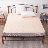 抗菌保暖雙人床墊-卡其-生活工場