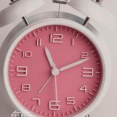 韓版可愛鬧鐘靜音簡約床頭創意金屬鬧鐘女鐘錶學生小鬧鐘夜燈臺鐘『夢娜麗莎精品館』