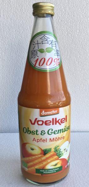 Voelke維可 德國有機蘋果胡蘿蔔汁 700ml/瓶