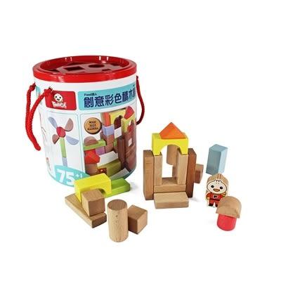 創意彩色積木桶 FOOD超人  (OS shop)