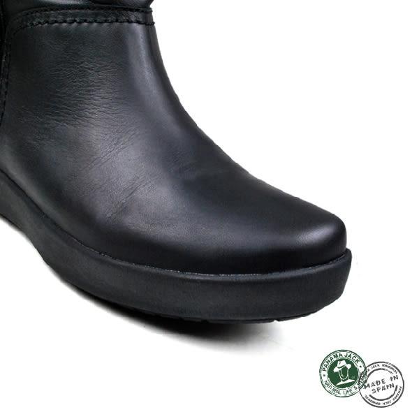 【Panama Jack】Madona休閒皮靴/女靴/短靴 黑色(P89161W-BL)