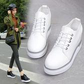 2018春季新款內增高休閒厚底單鞋子百搭板鞋小白鞋運動鞋女韓版 父親節禮物