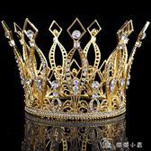 黑色婚禮新娘頭飾網紅結婚皇冠王冠韓式水鑚發飾品 娜娜小屋
