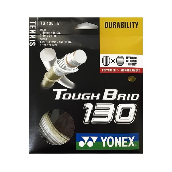 Yonex Tough Brid 130 Tennis String [TG130TB] 網拍線 子母線 耐用 白