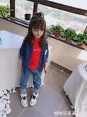 女童長袖襯衫-夏季新款 男女童寶寶百搭氣質牛仔襯衫 中小童個性帥氣上衣 糖糖日系