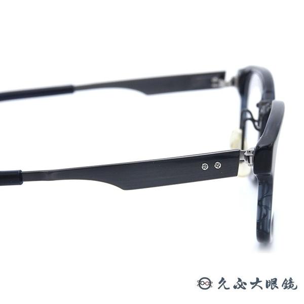 999.9 日本神級眼鏡 M35W (透藍-鐵灰)  鈦 方框 近視眼鏡 久必大眼鏡