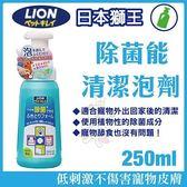 *KING WANG*日本LION獅王LION除菌能清潔泡劑250 ML