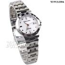 TIVOLINA 優雅來自於精緻 單鑽錶 女錶 防水錶 藍寶石水晶鏡面 白色 LAW3705WW