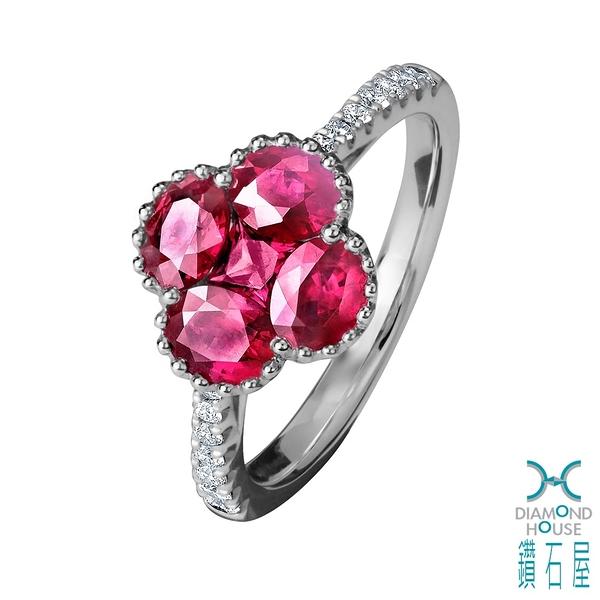 【鑽石屋】紅寶石造形戒指