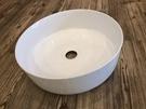 【麗室衛浴】薄邊陶瓷盆無溢水孔圓型檯上盆...
