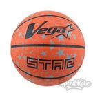 VEGA 進階科技籃球 台灣品牌 亮橘 星星 仿皮 橡膠 7號球 OBR-735【SP】