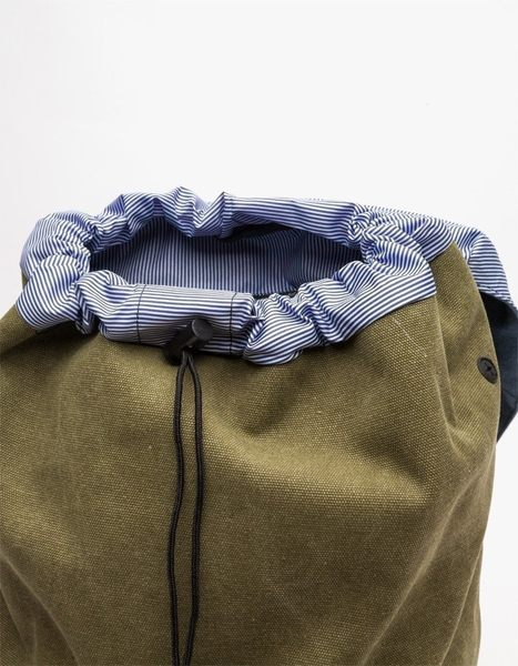 Hsin 75折 現貨 Herschel Little America 中型 重磅 帆布 水洗 軍綠 真皮 筆電層 女生 後背包