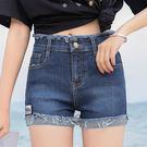 【GZ45】S10#實拍網紅牛仔短褲女新款韓版百搭顯瘦學生A字熱卷邊褲潮