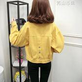 牛仔外套女韓版bf怪味少女外套小清新短款學生上衣 青山市集