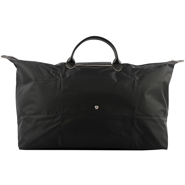 【LONGCHAMP】XL號短把LE PLIAGE CLUB折疊旅行包(黑色) L1625 619 001