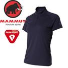 【MAMMUT Performance Dry Zip T-Shirt 女《海洋藍》】1017-00430-5118/長毛象/Primaloft/半開襟排汗衣