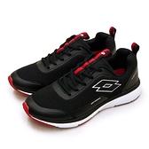 LIKA夢 LOTTO 專業輕量透氣避震慢跑鞋 OVERTHROW系列 黑紅 2151 男