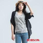 BOBSON  雪紡紗外衣-黑色
