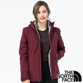 【THE NORTH FACE 美國】女 GORE-TEX二件式羽絨連帽外套『石榴紅』NF0A46I7 戶外 登山 保暖外套