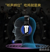 電競耳機 耳機頭戴式臺式機電腦有線游戲耳麥吃雞電競帶麥7.1聲道  『優尚良品』