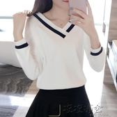長袖T恤時尚韓版休閒寬鬆百搭上衣
