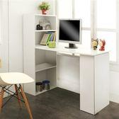 低甲醛機能簡約雙向書櫃書桌(白色)