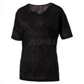 Puma LOGO LOOSE 女 黑 基本 訓練 寬版 上衣 短袖 短T TEE T桖 51511901