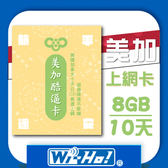 Wi-Ho! 特樂通 美國加拿大SIM卡(8G/10天)