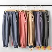 男女童運動長褲春秋款兒童裝外穿寬鬆休閒長褲子【淘嘟嘟】