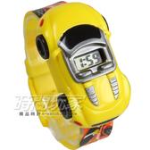 酷炫飆速玩具跑車電子錶 SKMEI時刻美 時尚創意手錶 SK1241黃 兒童電子錶 可拆玩具車兒童手錶