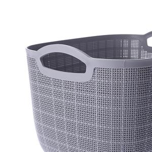 羅拉織紋提籃 L 灰