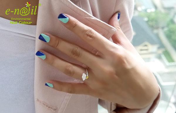 e-nail~【P247 / 綠光】可剝式水指甲 / 健康水性指甲油