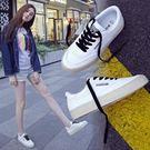 帆布鞋女學生百搭平底小白鞋子 學生鞋 雙12購物節必選