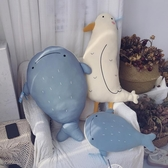 毛絨玩具公仔超軟抱枕陪你睡玩偶狐貍公仔鯨魚懶人毛絨玩具禮物送女生