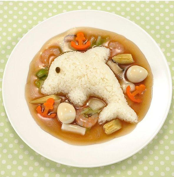 兔子海豚向日癸飯模