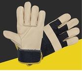 防護手套 牛皮手套短款頭層牛皮電焊手套焊工焊接皮手套勞保防護手套