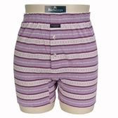 BURBERRY TRUNK條紋兩釦式家居短褲(淺紫)085173-6