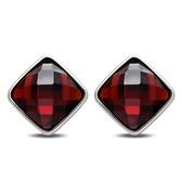 耳環 925純銀水晶-高貴優雅生日情人節禮物女飾品3色73ds83【時尚巴黎】