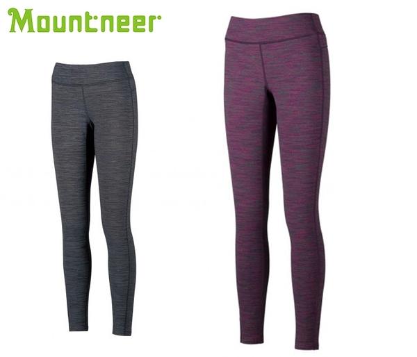 丹大戶外【Mountneer】山林休閒 中性緊身內搭褲 32S17 桃紅/灰藍