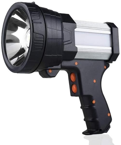 【美國代購】YIERBLUE可充電聚光燈 6000流明LED 手持式聚光燈10000mAh手電筒探照燈 銀色