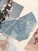 性感蕾絲純棉襠女士內褲女中腰透氣冰絲網紗透明鏤空無痕 歐亞時尚