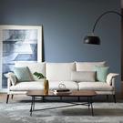 林氏木業輕奢現代可拆洗北歐三人布沙發(附抱枕)RAG1K-米白色